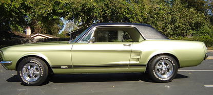 1967 Mustang GTA restored by John and Cindy Davenport