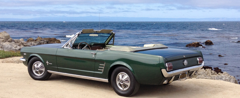 Green Mustang Convertible