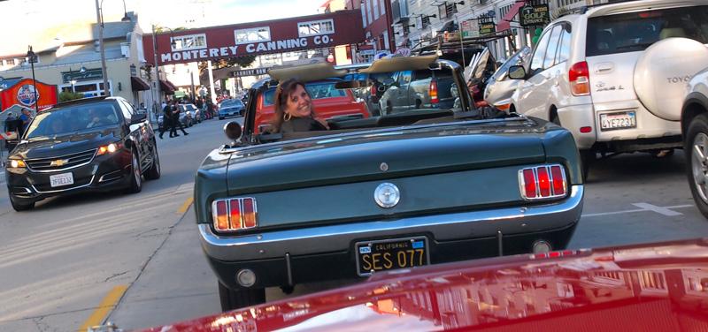 66 Green Mustang Convertible